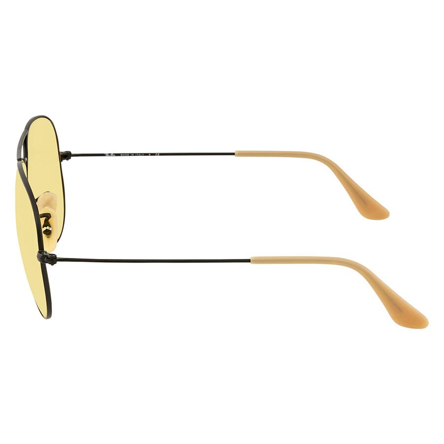 a485c704db ... Ray Ban Aviator Evolve Yellow Photocromic Aviator Sunglasses RB3025  90664A 58
