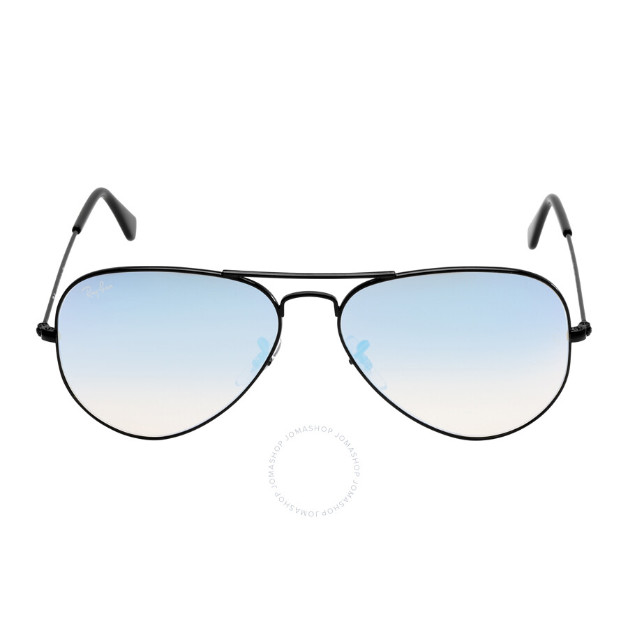ray ban sunglasses blue aviator  Ray Ban Aviator Flash Blue Gradient Flash Sunglasses RB3025 002/4O ...