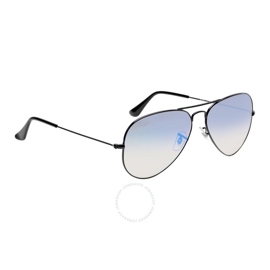 cb37b4a42 ... Ray Ban Aviator Flash Blue Gradient Flash Sunglasses RB3025 002/4O 58-14