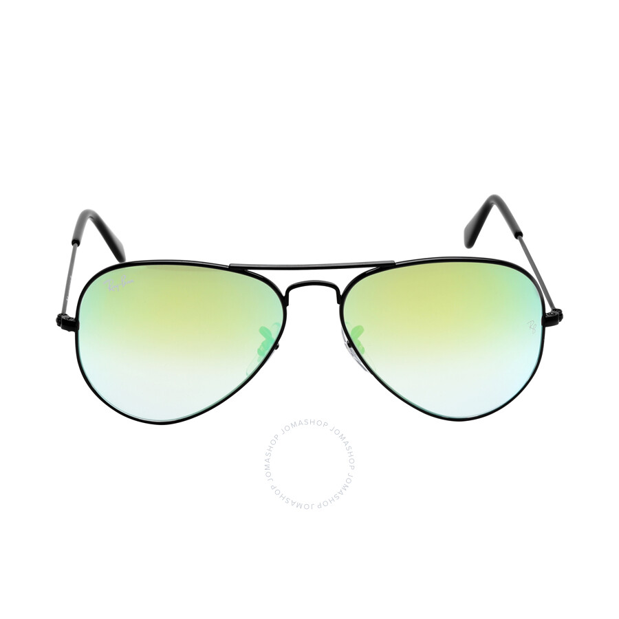 a530087928 Ray Ban Aviator Flash Gradient Green Sunglasses RB3025 002-4J55-14 Item No. RB3025  002 4J 55-14