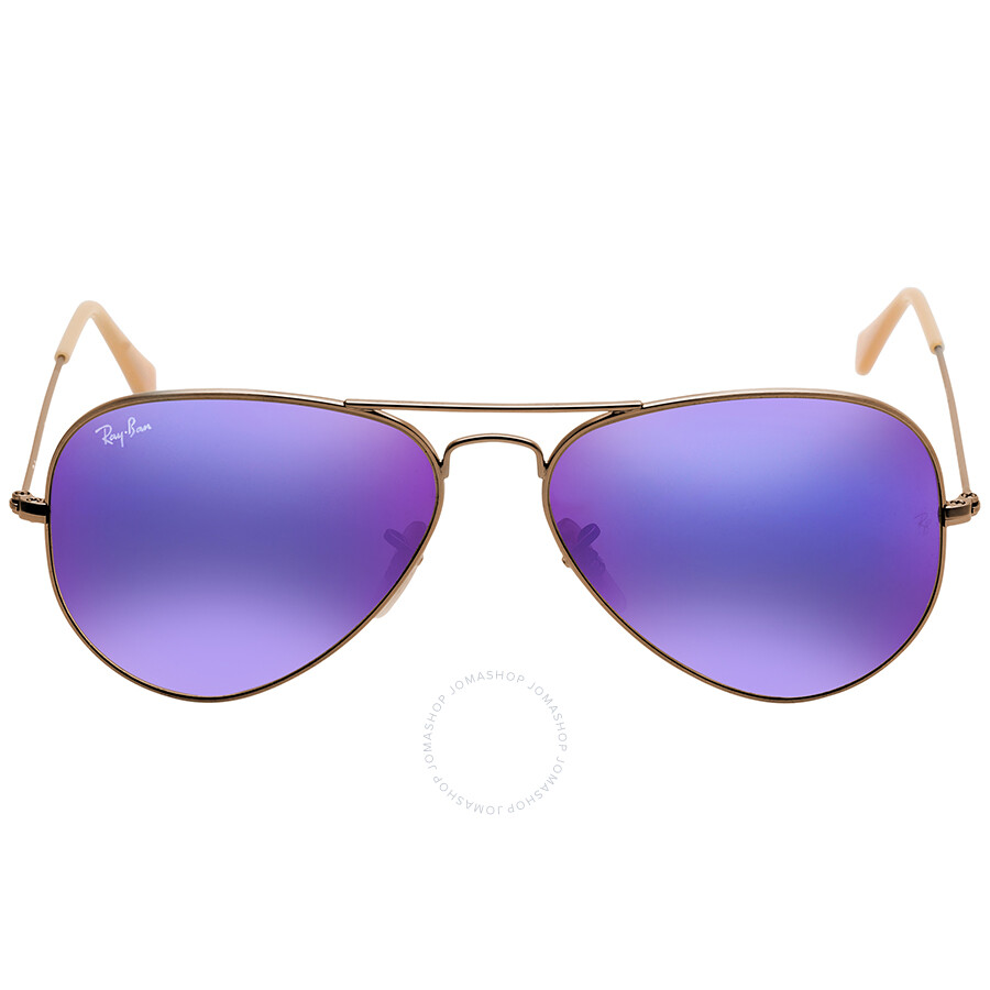1db630342975 Ray Ban Aviator Flash Lenses Violet Mirror Men s Sunglasses RB3025 167 1M  58 ...