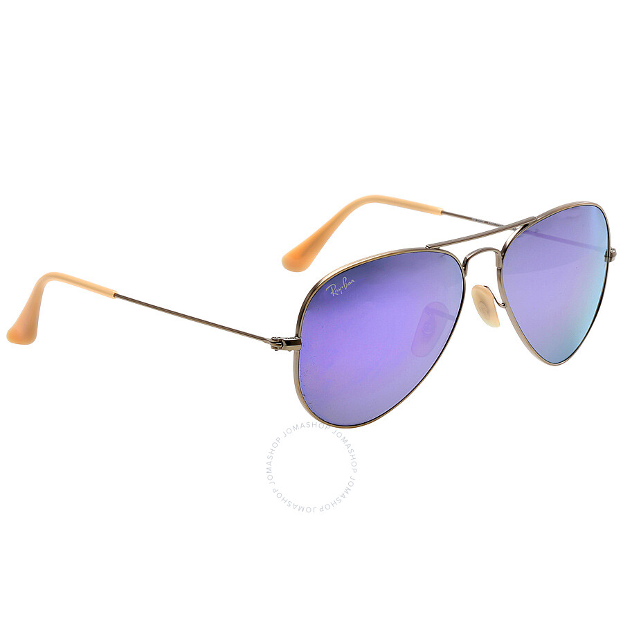 Ray ban aviator flash lilac mirror 55 mm sunglasses rb3025 for Ray ban aviator miroir homme