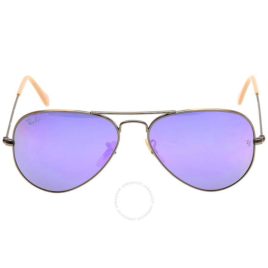 98919567113e Ray-Ban Aviator Flash Lilac Mirror 55 mm Sunglasses RB3025 167 4K 55 ...