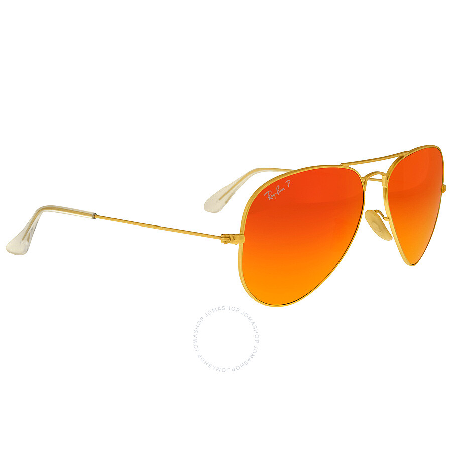 7109308dceb ... Ray Ban Aviator Flash Polarized Orange Flash Sunglasses RB3025 112 4D 58  ...