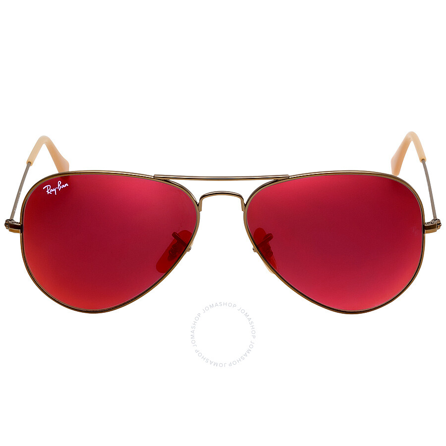 Ray Ban Aviator Flash Red Mirror 58 Mm Sunglasses Rb3025