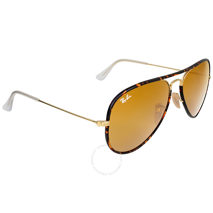 7720579b00d ... Ray-Ban Aviator Full Color Brown Classic Lens Sunglasses RB3025JM 001  58-14 ...