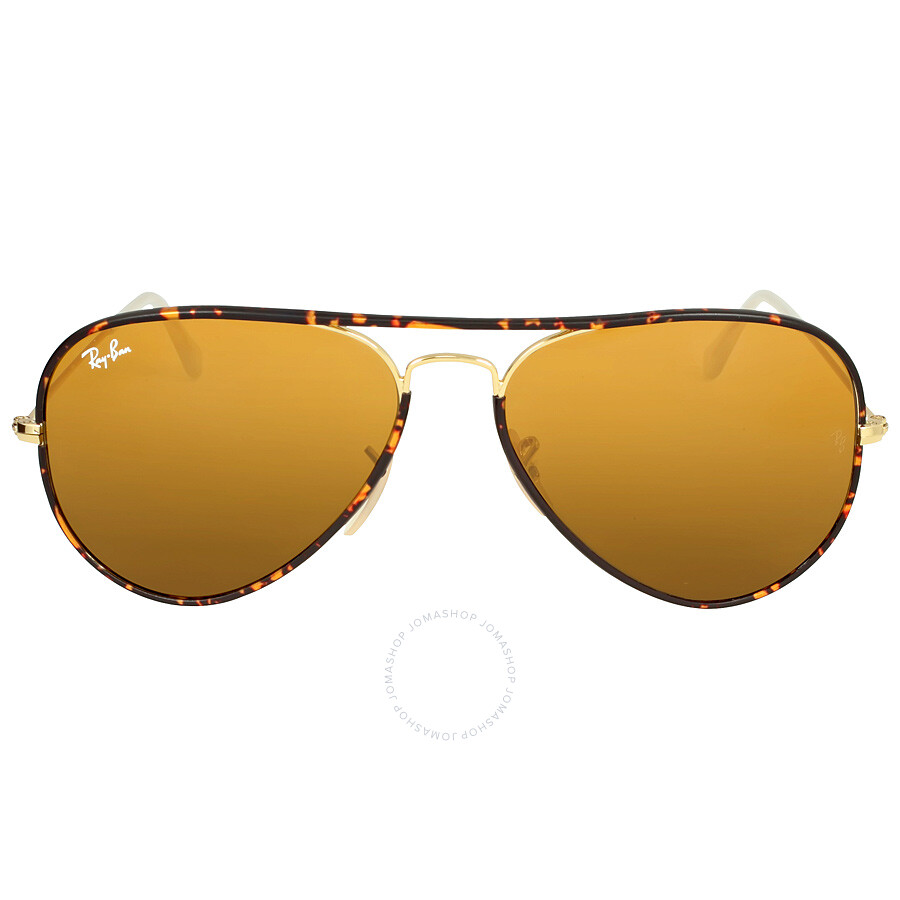e17994ceaa4a1 Ray-Ban Aviator Full Color Brown Classic Lens Sunglasses RB3025JM 001 58-14  ...