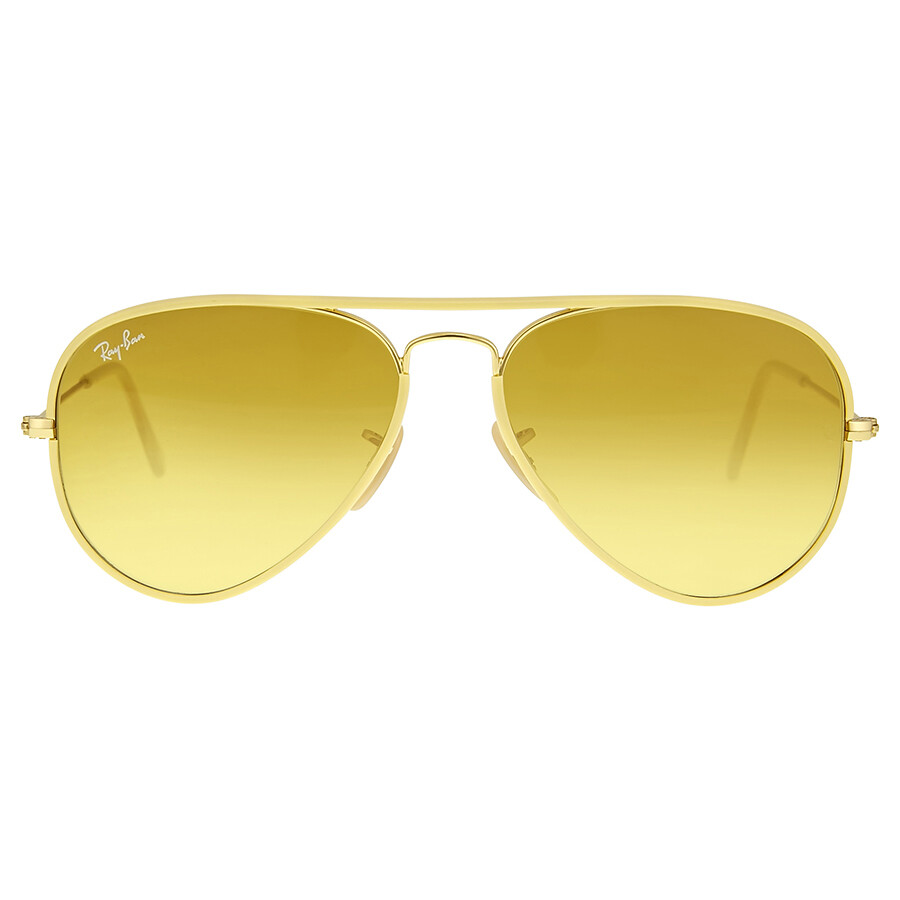 ray ban sunglasses yellow  ray ban aviator full color yellow gradient sunglasses