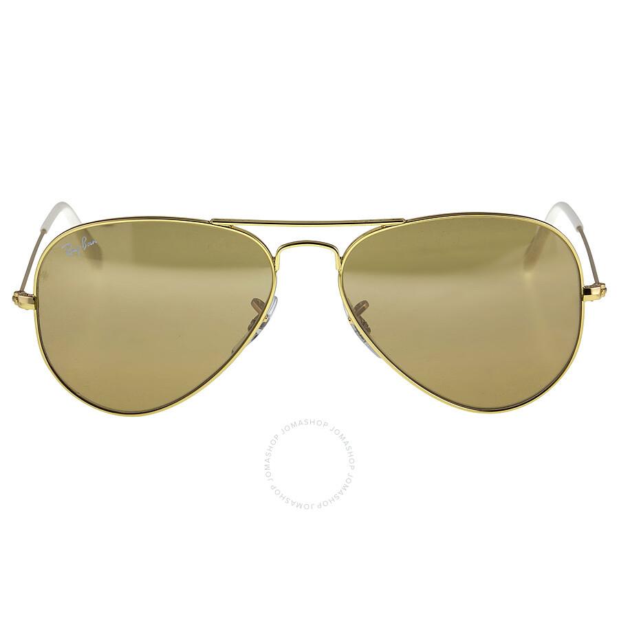 ladies aviator sunglasses za9e  Ray-Ban Aviator Gradient Brown-Silver Mirror 55 mm Ladies Sunglasses  RB3025-0013K