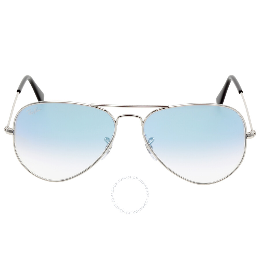9d68f1748b Ray Ban Aviator Gradient Light Blue Gradient Sunglasses Rb3025-0033F-5814  Item No. RB3025 003 3F 58-14