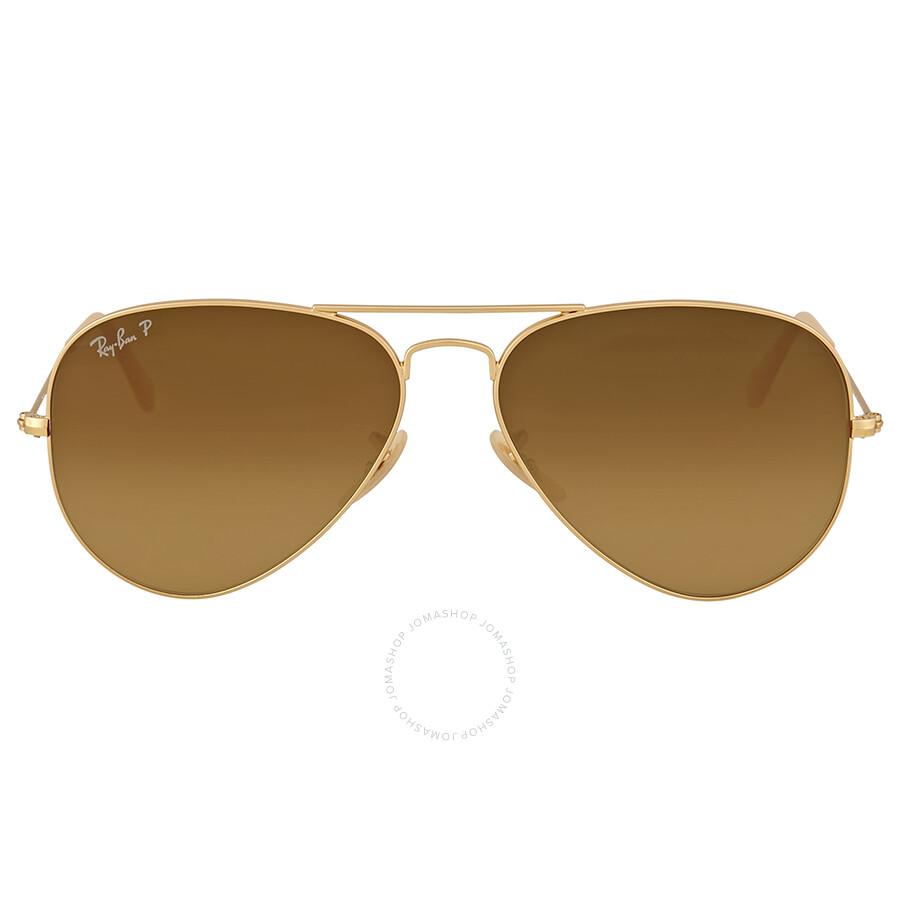 Ray Ban Aviator Gradient Polarized Brown Sunglasses