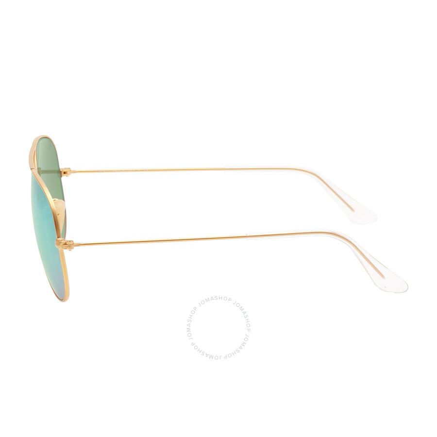 6ee9d50340 ... Ray-Ban Aviator Green Flash 55 mm Sunglasses RB3025 112 19 55 ...