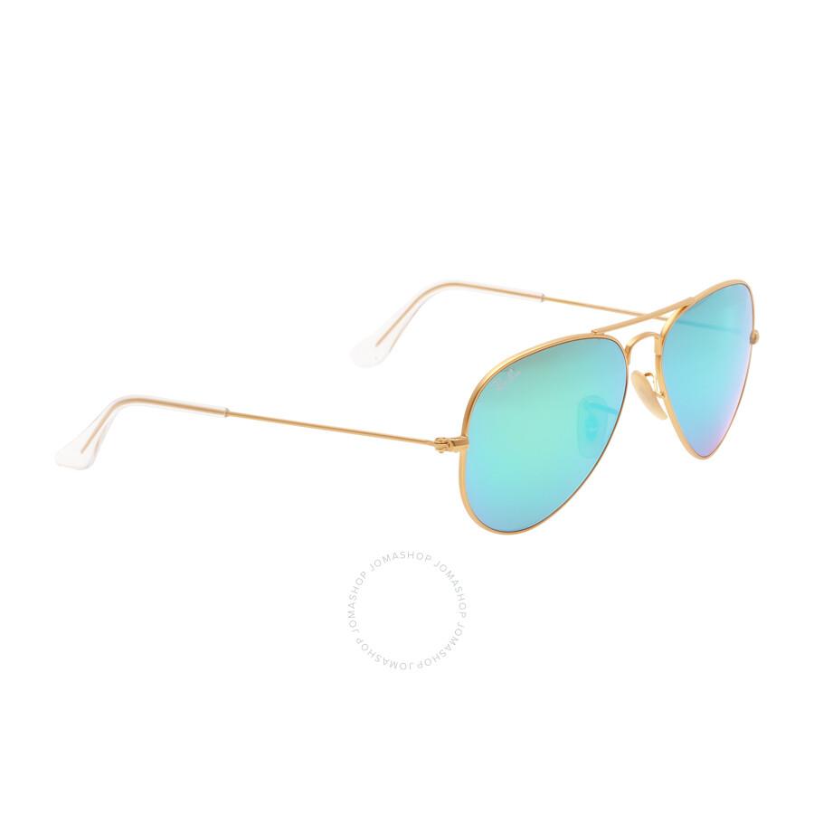 Ray-Ban Aviator Green Flash 55 mm Sunglasses RB3025 112 19 55 ... 85dba15c43f3e