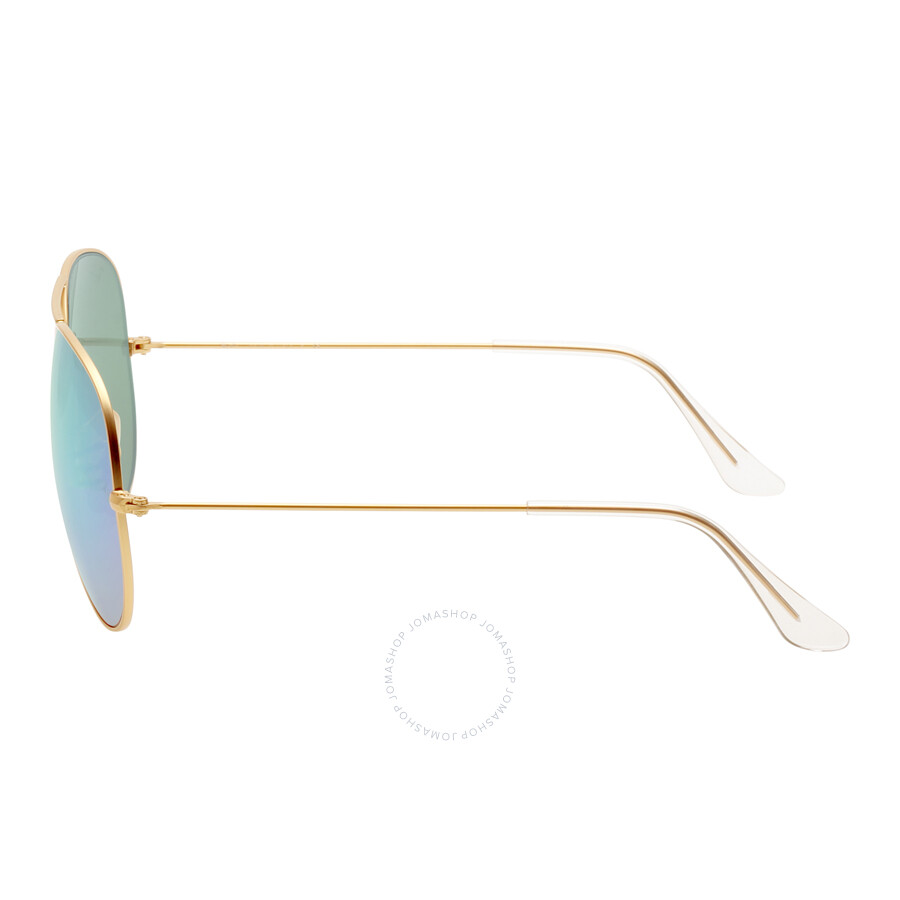 89caa85378 ... Ray-Ban Aviator Green Flash 62 mm Sunglasses RB3025 112 19 62 ...