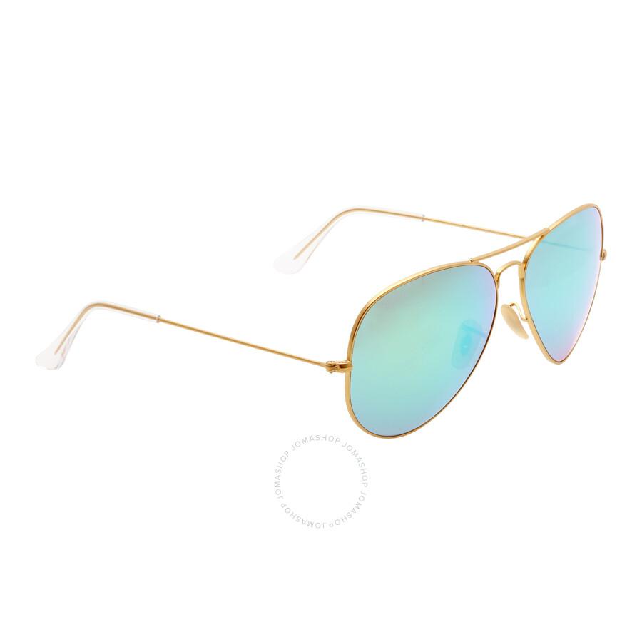 e0f05d6498 Ray-Ban Aviator Green Flash 62 mm Sunglasses RB3025 112 19 62 ...