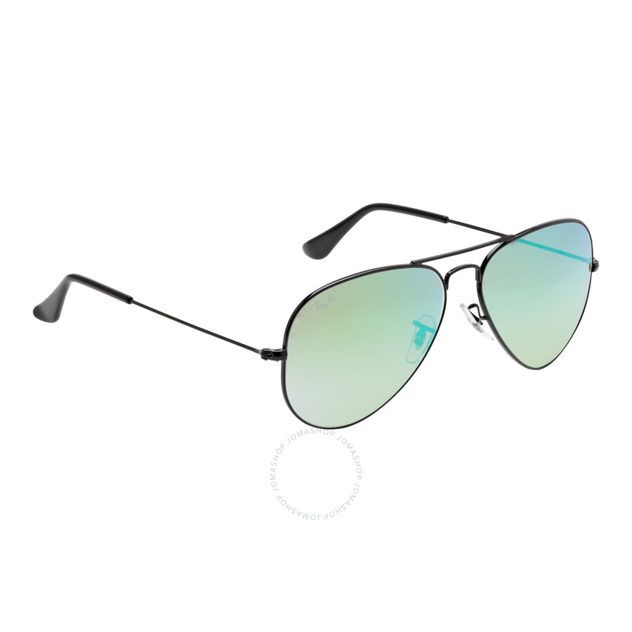 4a22a2cfd6 Ray Ban Aviator Green Gradient Flash Sunglasses RB3025 002 4J 58-14 ...