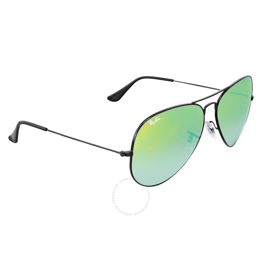 Ray ban aviator green gradient mirror sunglasses rb3025 002 4j 62 aviator ray ban - Ray ban aviator lenti a specchio ...