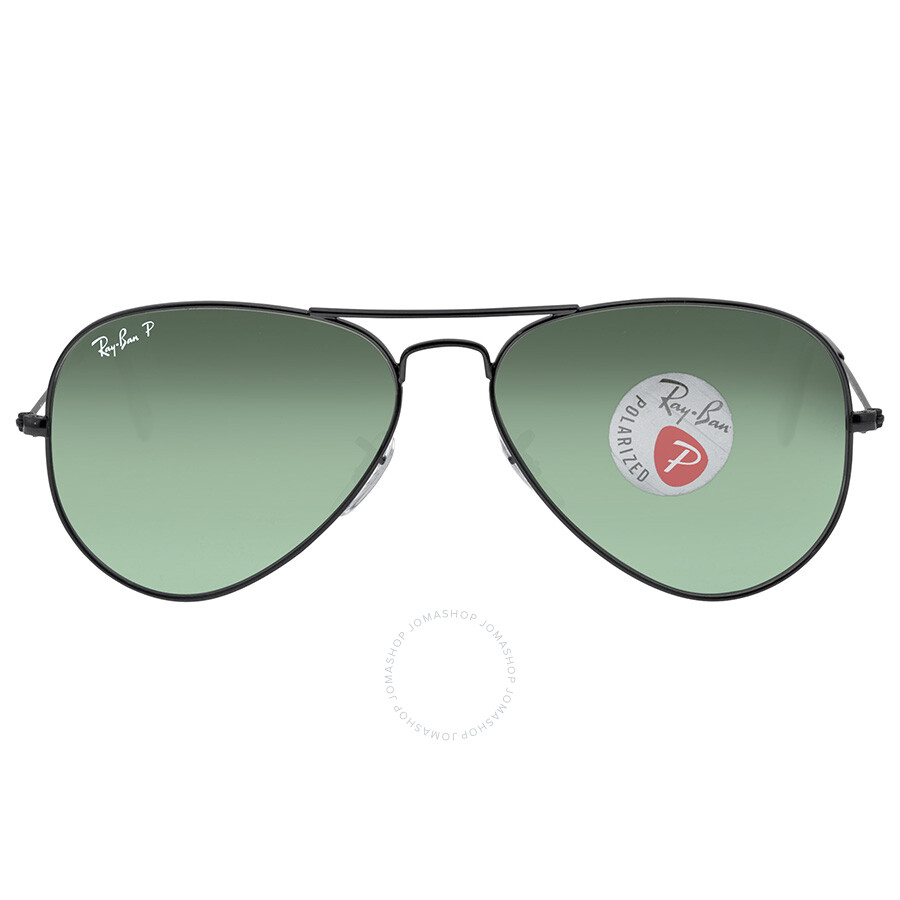 47bd17b7730 Ray Ban Aviator Green Polarized Lens 58mm Men s Sunglasses RB3025 002 58  58-14 ...