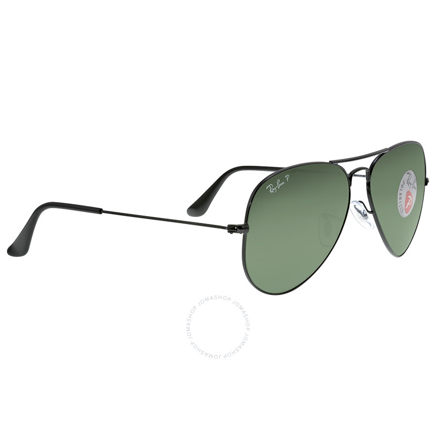 06fdf4a58f ... Ray Ban Aviator Green Polarized Lens 58mm Men's Sunglasses RB3025 002/58  58-14 ...