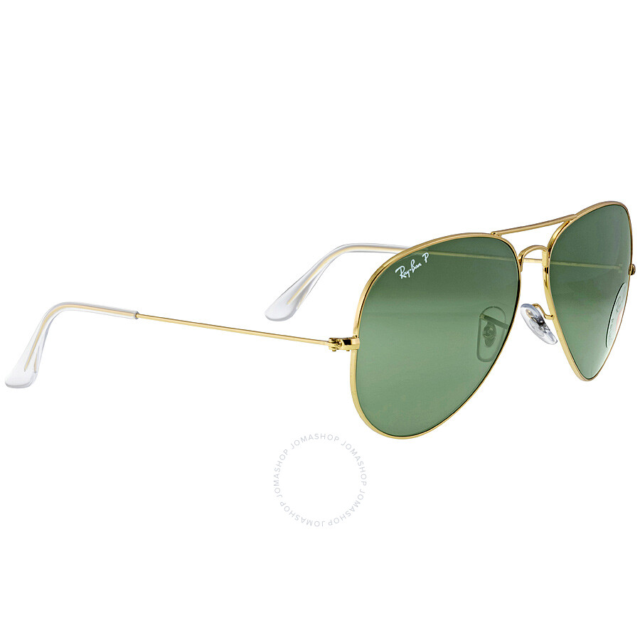 6d6489d26 Ray-Ban Aviator Green Polarized Lenses Sunglasses RB3025 001/58 62 ...