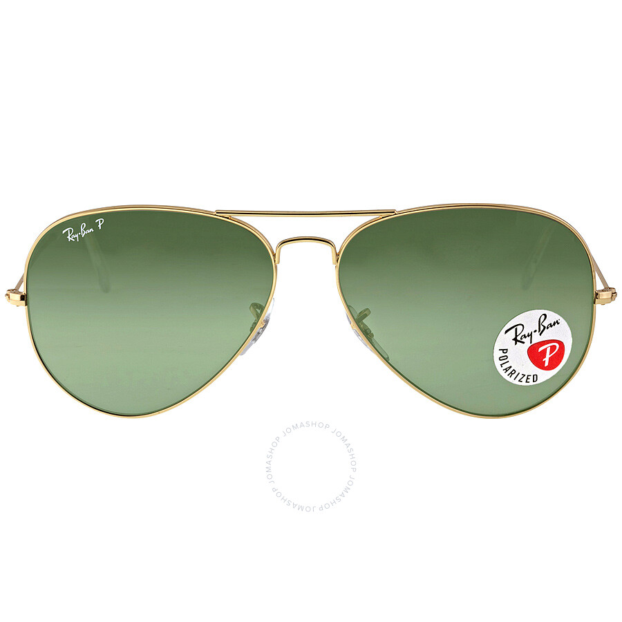 4878766881 Ray Ban Ray-Ban Aviator Green Polarized Lenses Sunglasses