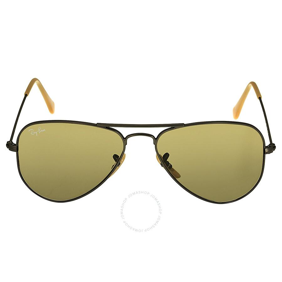 bef0b97d44 Ray Ban Aviator Gunmetal Fram Brown Lens 52 mm Men s Sunglasses RB3044-52-029  ...