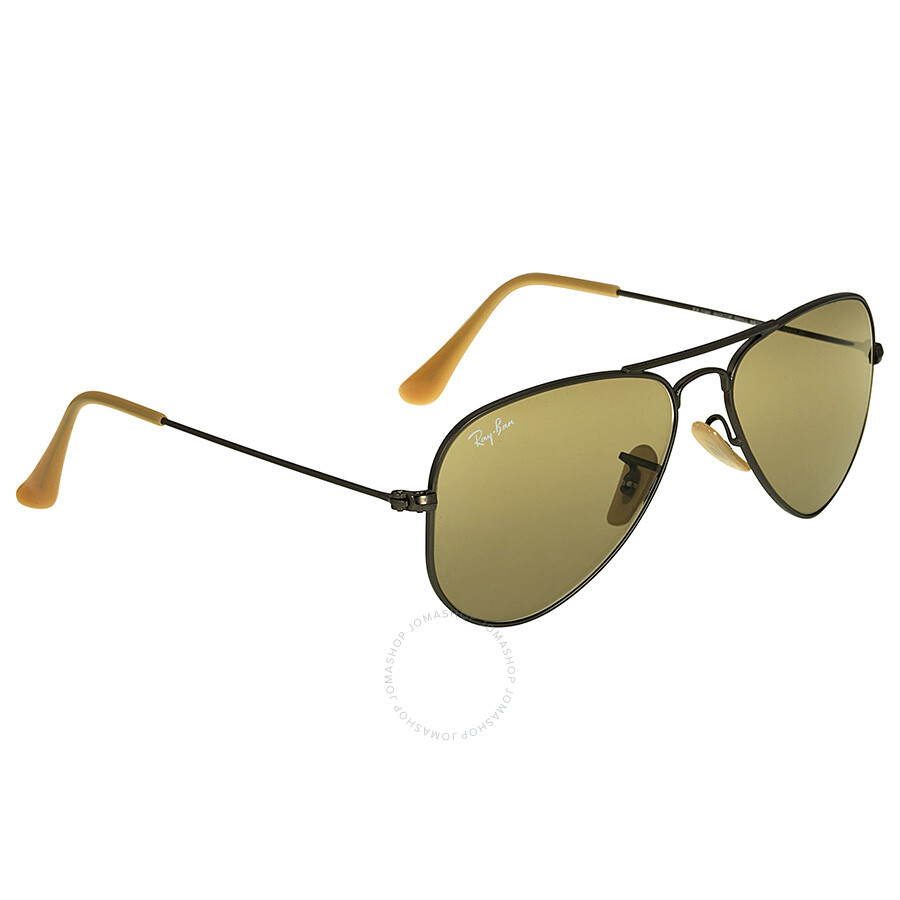85bab10eed ... Ray Ban Aviator Gunmetal Fram Brown Lens 52 mm Men s Sunglasses RB3044-52-029  ...
