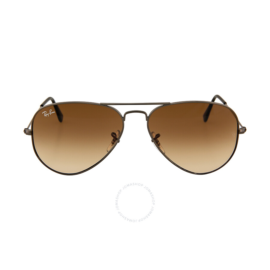 81126baa0d29 Ray-Ban Aviator Gunmetal Frame Brown Non-Polarized Crystal Lens 58mm Men s  Sunglasses RB3025 ...