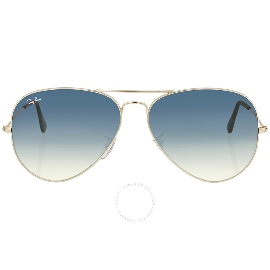 b2d6ebfee8 Ray Ban Aviator Light Blue Gradient Men s Sunglasses RB3025 003 3F 62 ...
