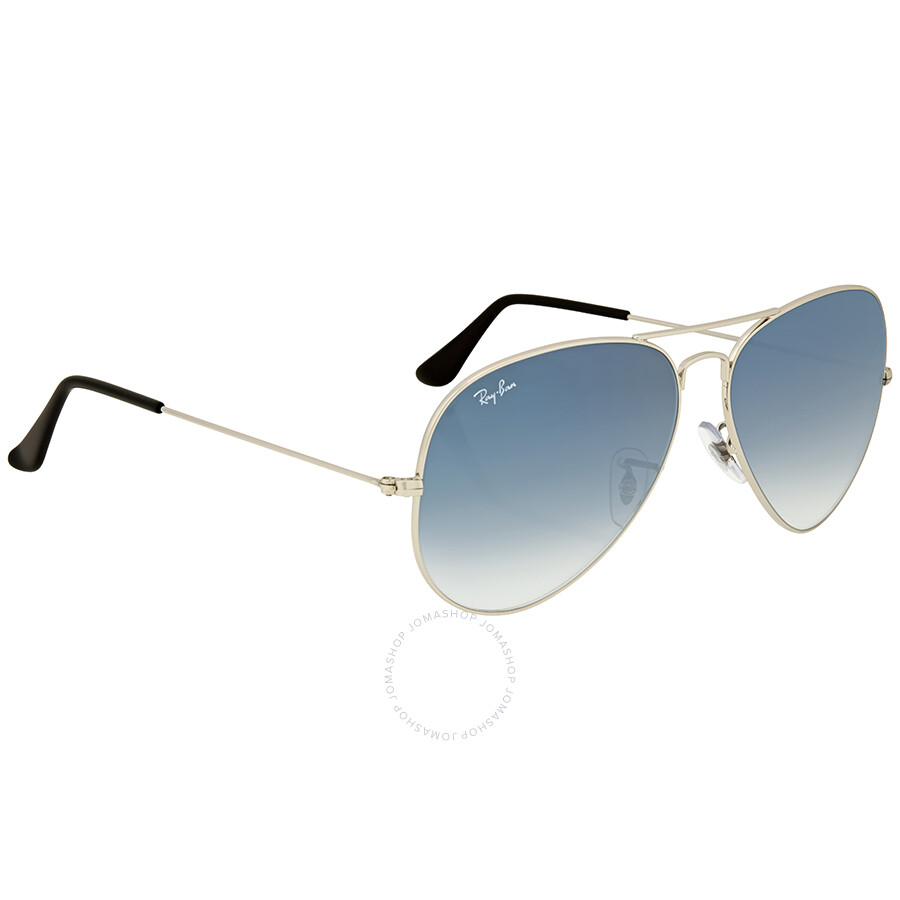 988cd2125a ... Ray Ban Aviator Light Blue Gradient Men s Sunglasses RB3025 003 3F 62  ...