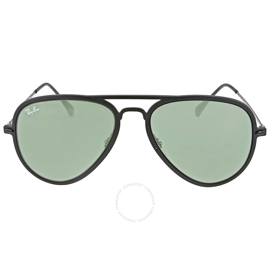 82b489a18e536 Ray Ban Aviator Light Ray II Green Classic Sunglasses RB4211 601S71 56 -  Aviator - Ray