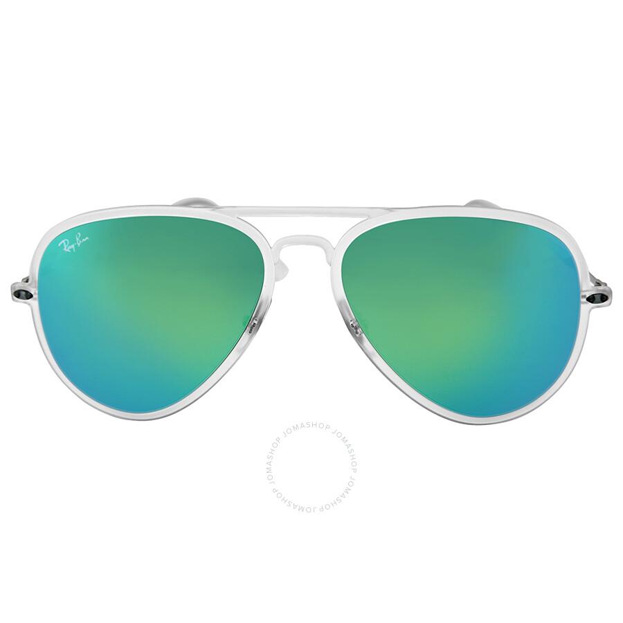 Ray Ban Aviator Light Ray Ii Green Mirror Sunglasses