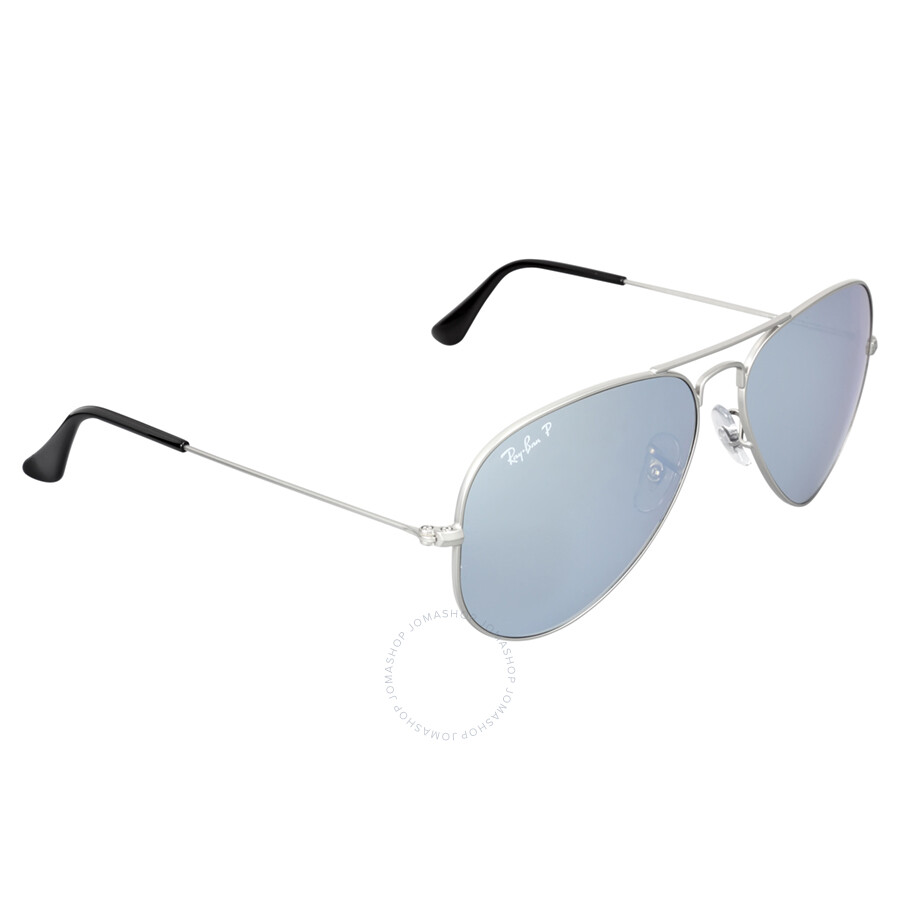 428301a0c778 ... Ray Ban Aviator Mirror Polarized Silver Flash Sunglasses RB3025 019 W3  58 ...