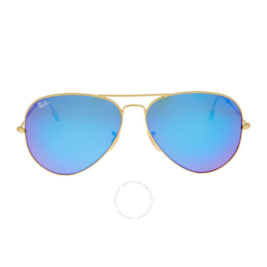 aviator blue sunglasses  Ray Ban Aviator Pilot Blue Flash Sunglasses RB3025 112/17 62 ...