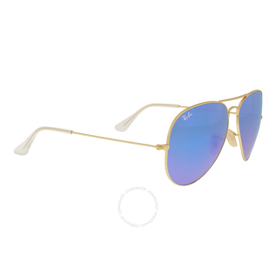 c91fc9bf8bd47a ... Ray Ban Aviator Pilot Blue Flash Sunglasses RB3025 112 17 62 ...