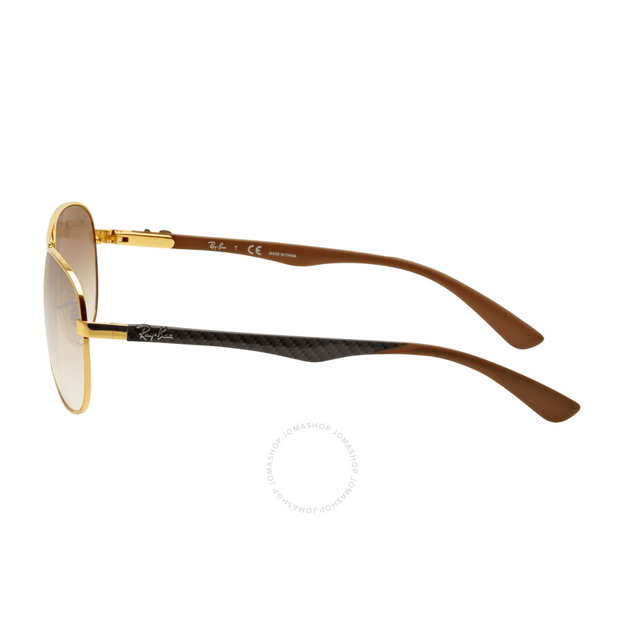 ray ban pilot lg3a  Ray Ban Aviator Pilot Light Brown Gradient Sunglasses RB8313 001/51  58-13