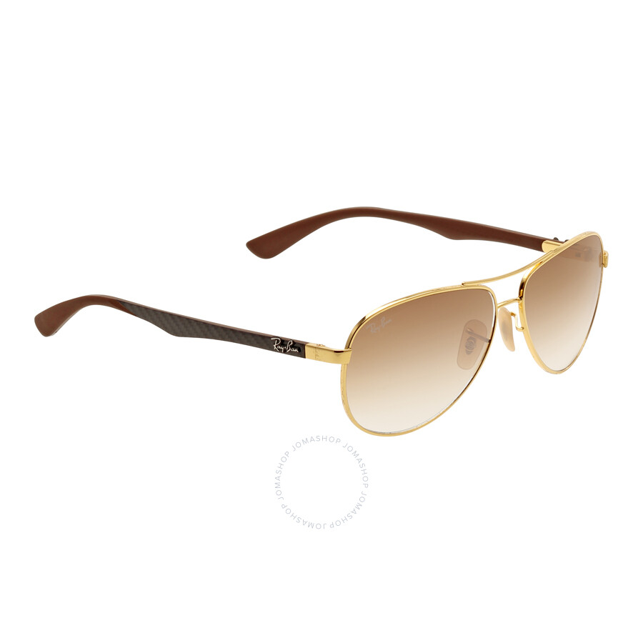 5b40361ab3 ... Ray Ban Aviator Pilot Light Brown Gradient Sunglasses RB8313 001 51 58- 13