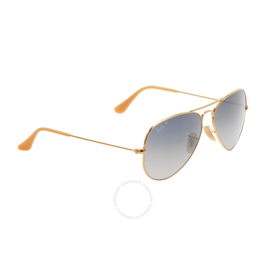 50db4637c087ed ... Ray Ban Aviator Polarized Blue   Grey Gradient Sunglasses RB3025 001 78  58-14