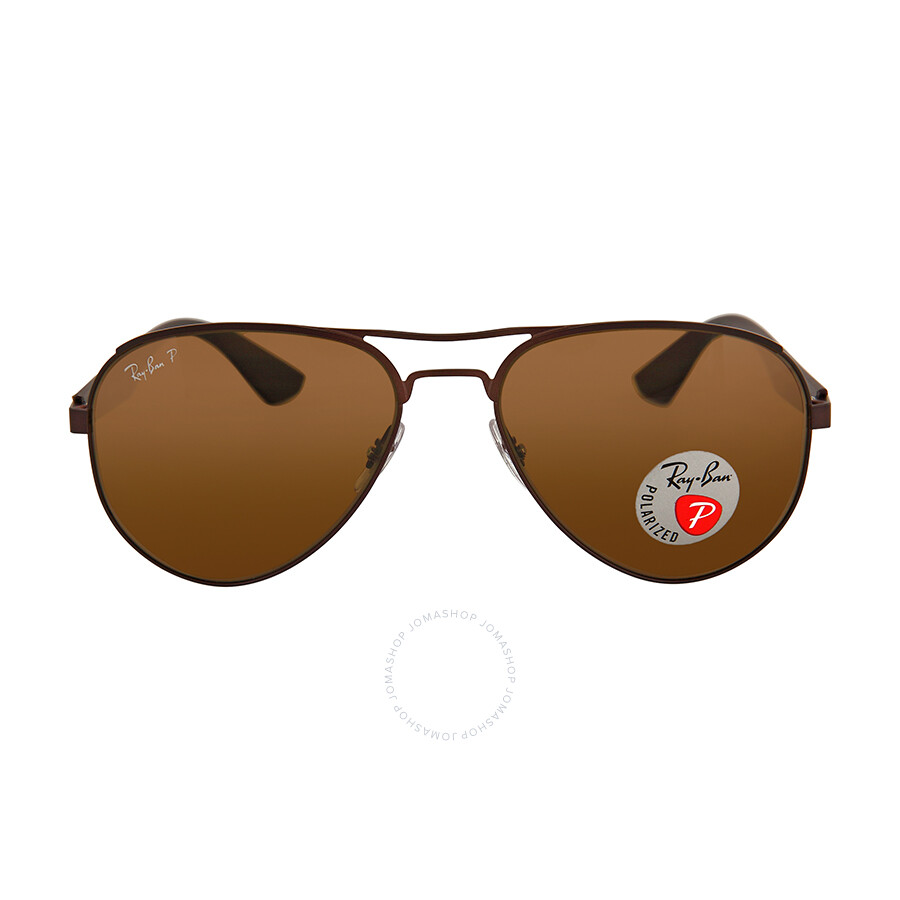 f9de9762a8 Ray Ban Aviator Polarized Brown Classic Sunglasses RB3523-59-012-83 Item  No. RB3523 012 83 59-17