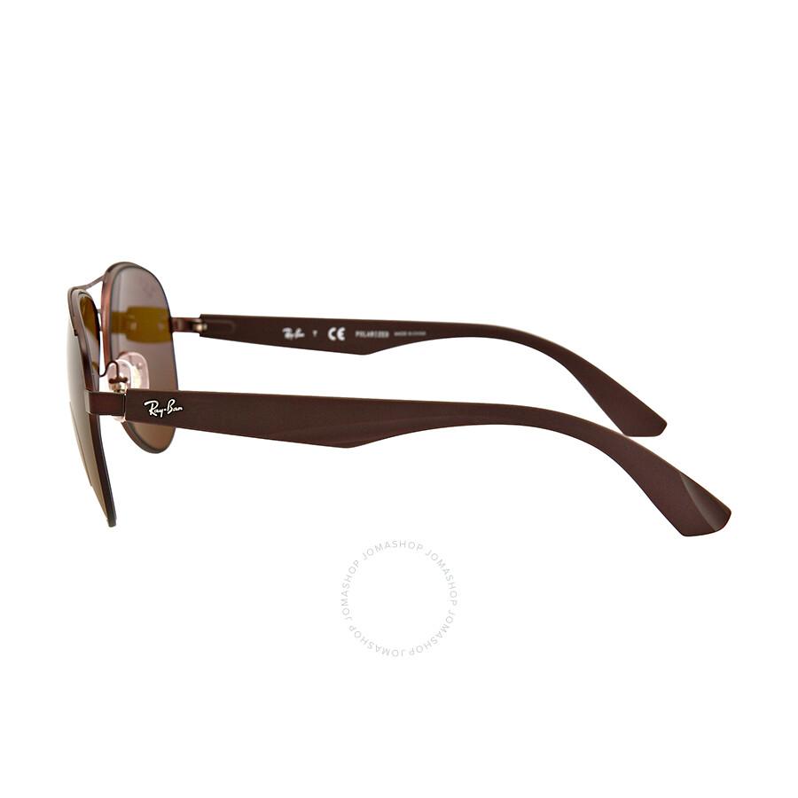 1b87d5608e ... Ray Ban Aviator Polarized Brown Classic Sunglasses RB3523-59-012-83 ...