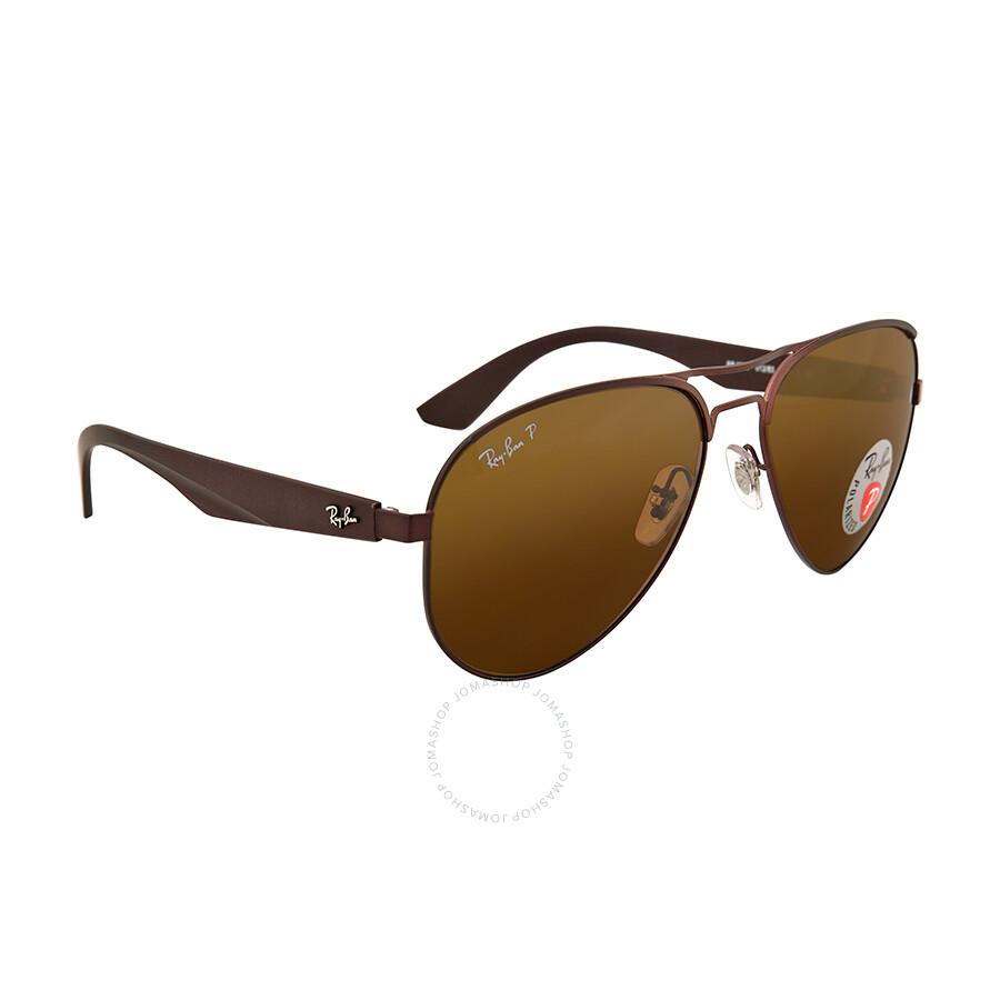 863510ebc8e ... Ray Ban Aviator Polarized Brown Classic Sunglasses RB3523-59-012-83 ...