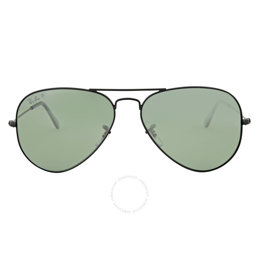 9d77f4b5e4 Ray Ban Aviator Polarized Green Classic G-15 Sunglasses RB3025 W3361 58 ...
