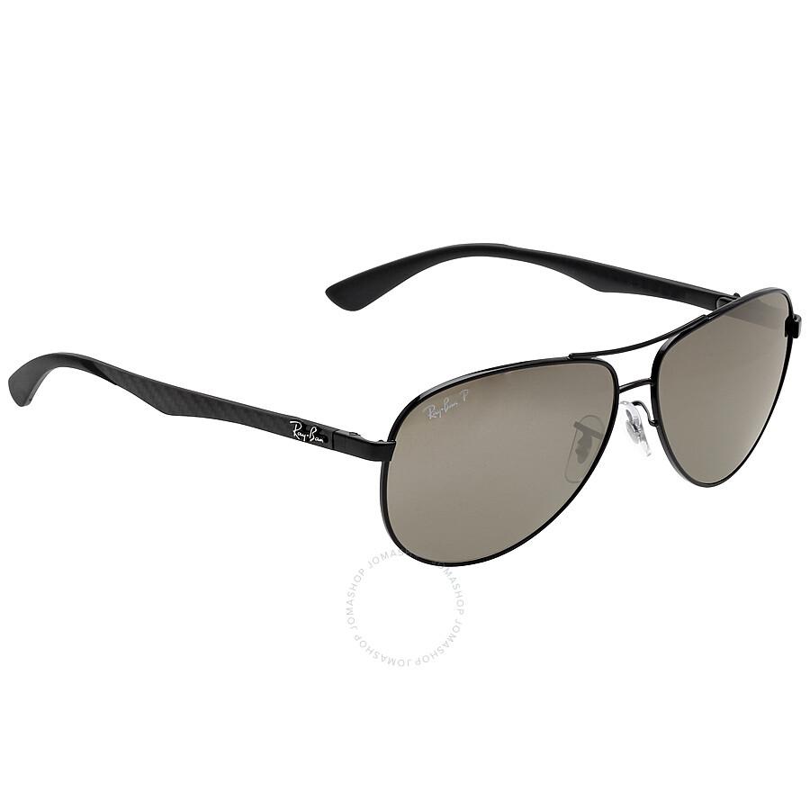 5b14a7faaad Ray Ban Aviator Polarized Grey Mirror Sunglasses RB8313 002 K7 61-13 ...