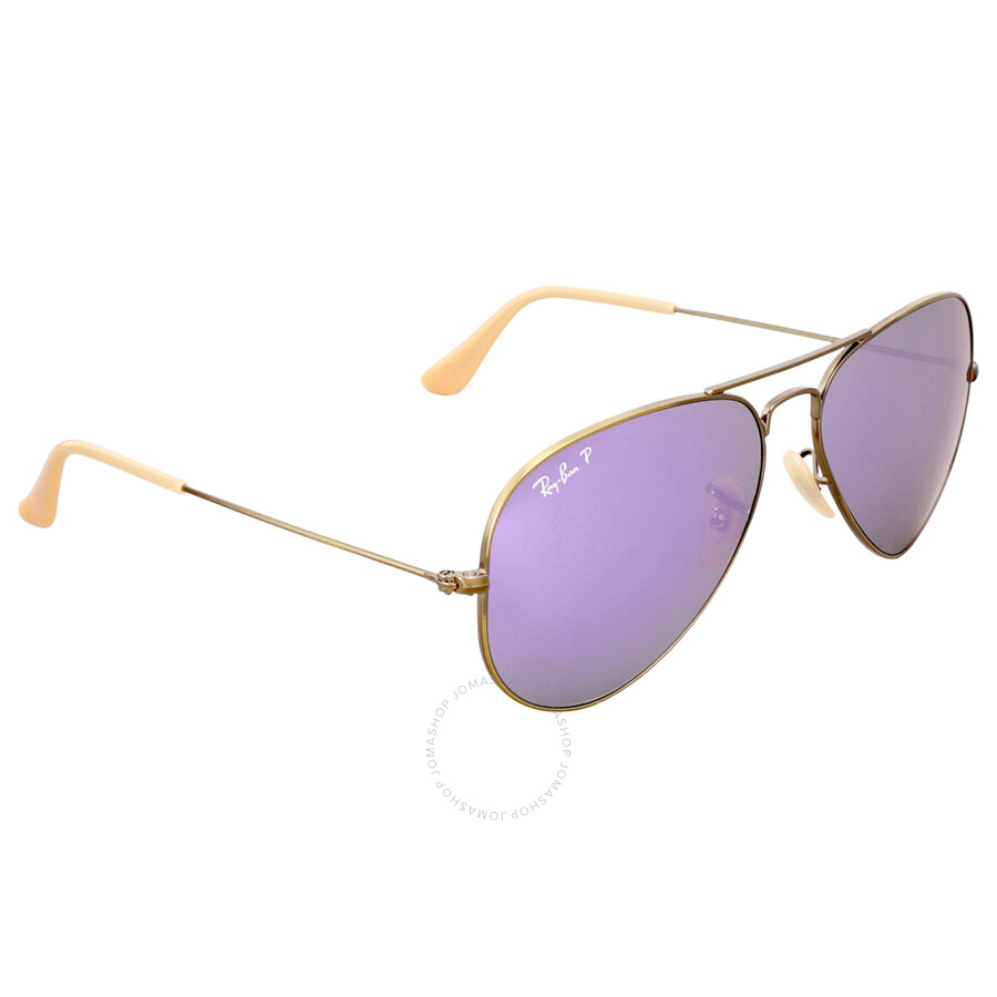 ed2b6d8b6fc ... Ray Ban Aviator Polarized Lilac Flash Sunglasses RB3025 167 1R 58 ...