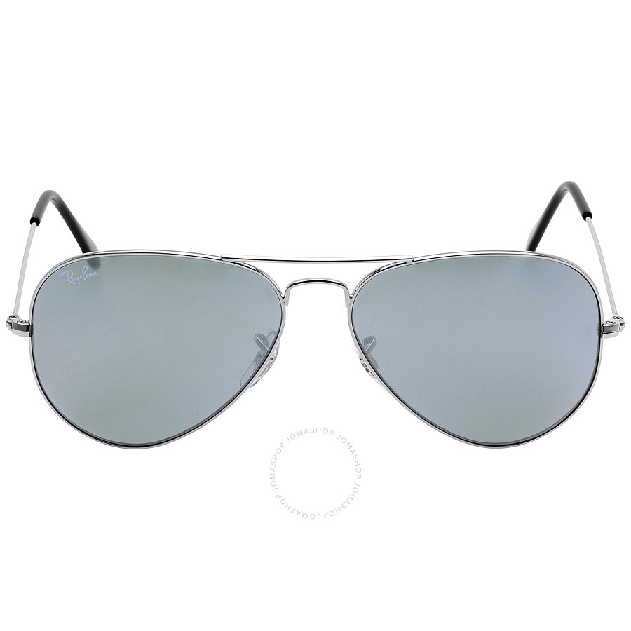 ray-ban unisex aviator style sunglasses - silver rb3025-w3277-58