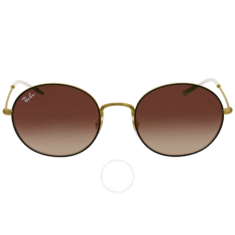 ddd69afd859 ... Ray Ban Beat Brown Gradient Mirror Oval Sunglasses RB3594 9115S0 53 ...