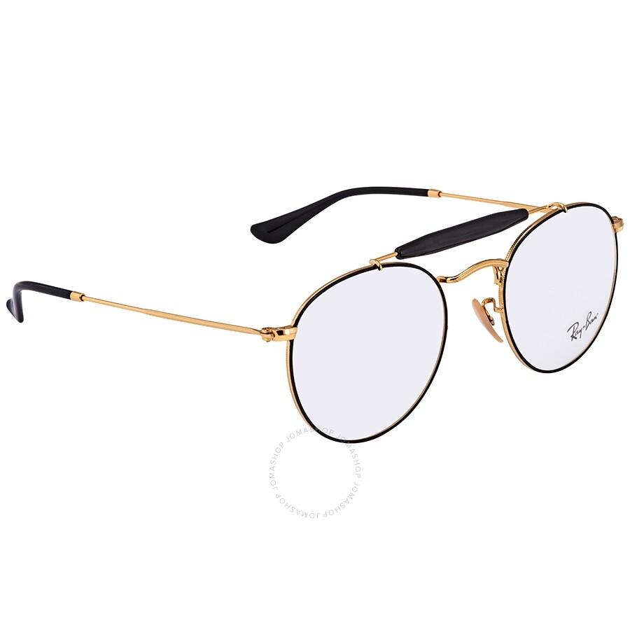 Ray Ban Black Gold Aviator Unisex Eyeglasses Rx3747v294650