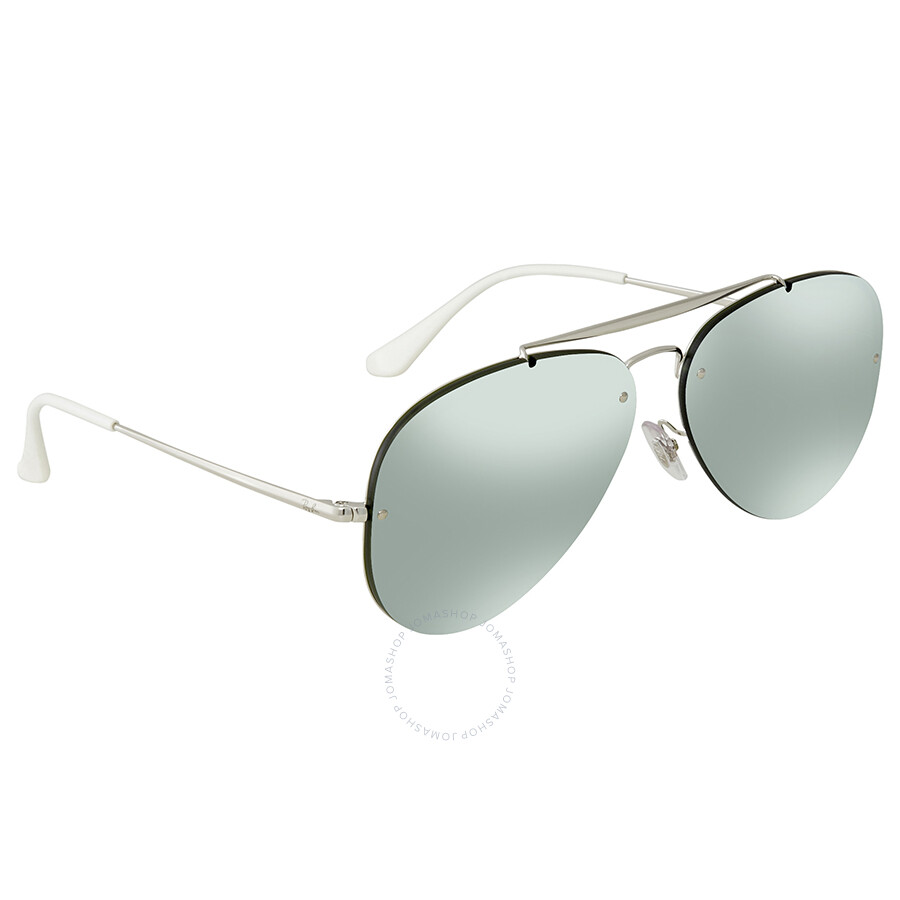 cf34d5572 Ray Ban Blaze Aviator Dark Green/Silver Mirror Aviator 61mm Sunglasses  RB3584N 905130 61 ...