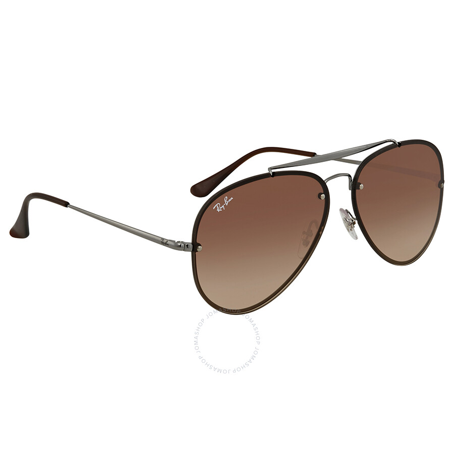 ee88ffedc Ray Ban Blaze Brown Gradient Aviator Sunglasses RB3584N 004/13 61 Item No.  RB3584N 004/13 61