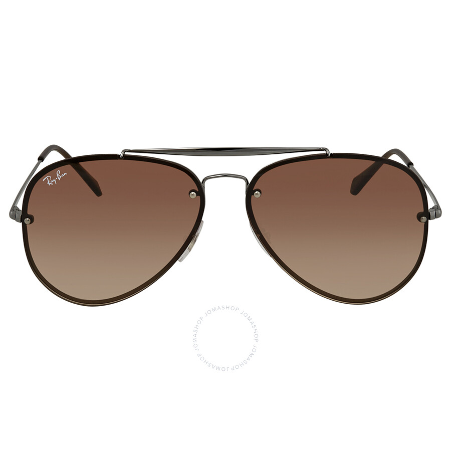 565e7359a1 ... Ray Ban Blaze Brown Gradient Aviator Sunglasses RB3584N 004 13 61 ...